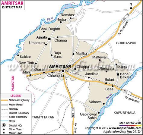 amritsar maps amritsar district map