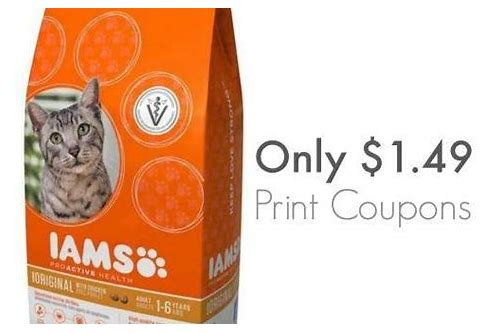 coupons for iams cat food 2018