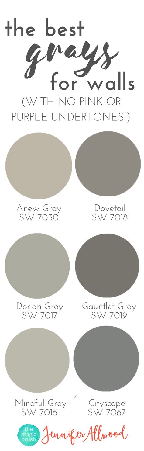 best grey color the best gray paint colors for walls with no pink or purple undertones magic brush