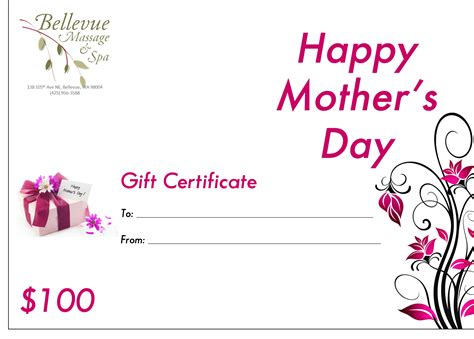 gift cards 171 bellevue massage and spa - Mothers Day Gift Cards
