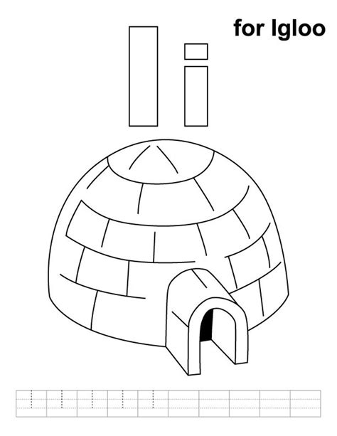 coloring page for igloo alphabet coloring igloo coloring pages alphabet i igloo