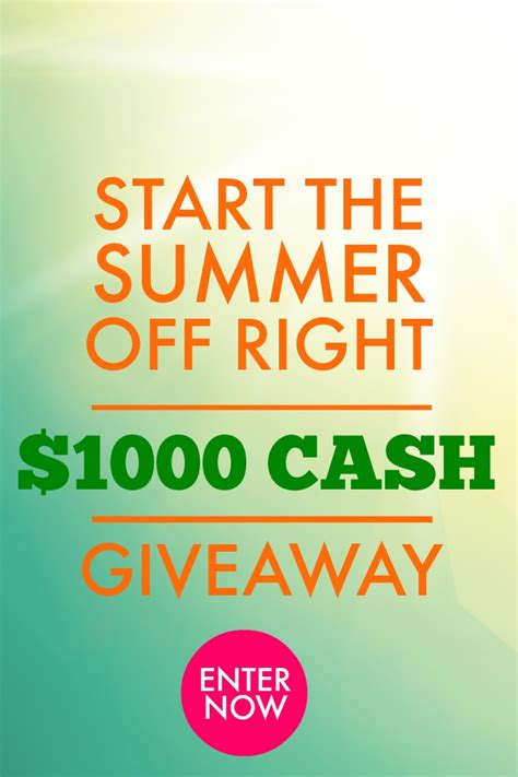 welcoming summer with a big cash giveaway - Nine Cash Giveaway