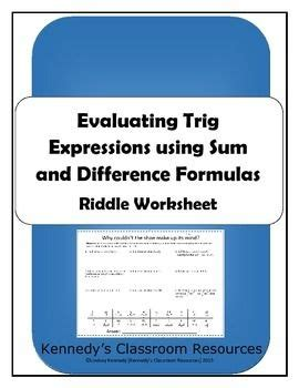 evaluating trig expressions with sum and difference