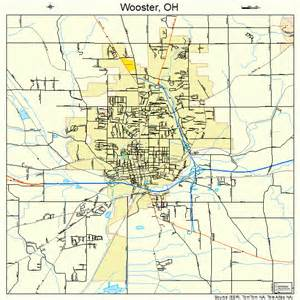Wooster Ohio Map wooster ohio street map 3986548