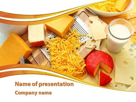 hard cheese and milk powerpoint template, backgrounds