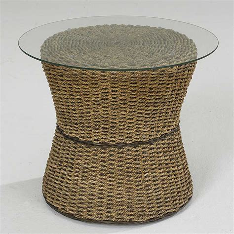 round drum accent table home styles cabana banana round drum accent table in honey