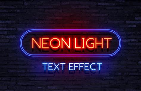 Neon Styles And Psd Mockups For Photoshop Psddude Neon Sign Photoshop Template