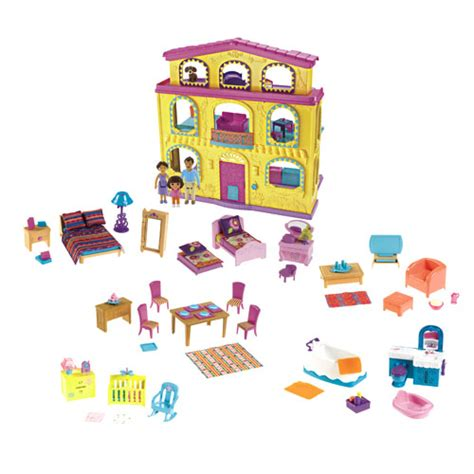 dora talking doll house new playtime together dora the explorer talking dollhouse toy tattle