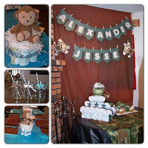 Army Baby Shower Theme baby shower army theme mixed with blue and brown theme