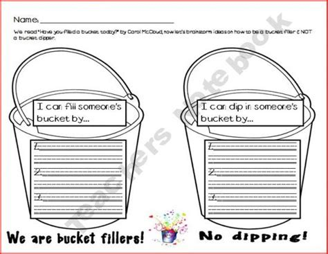 6 best images of bucket filler template printable bucket