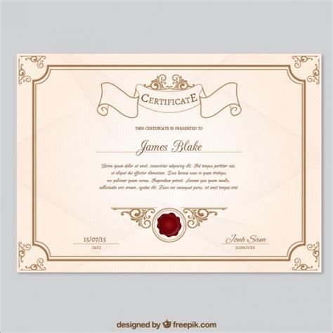 Modelo de certificado Retro   Baixar vetores Premium