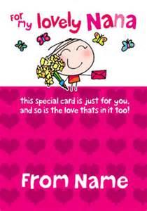 www funkypigeon personalised card wigwam nana card