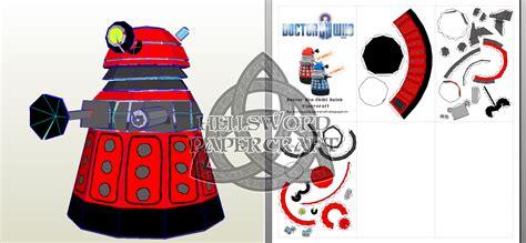 Dalek Papercraft - hellsword papercraft doctor who chibi dalek papercraft
