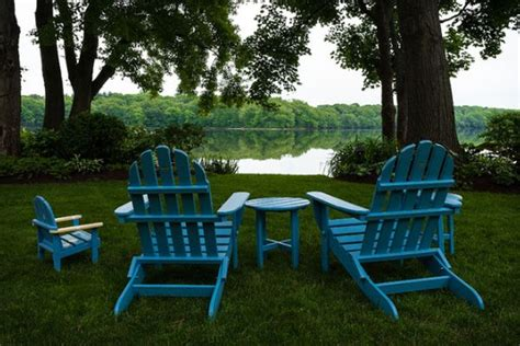 combine adirondack chairs  modern elements   beautiful design