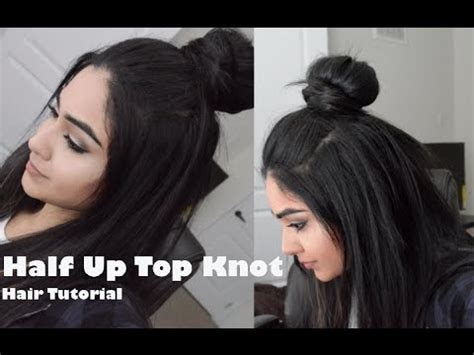 tutorial top up ilegal hair tutorial hipster bun half up top knot youtube