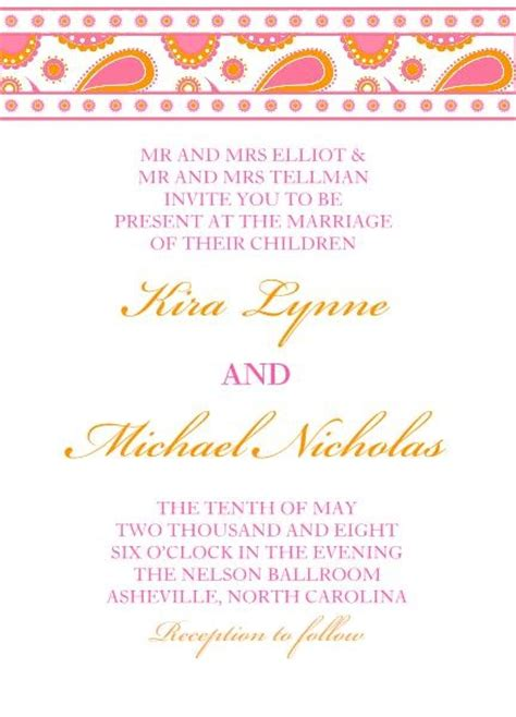 Cheap Wedding Invitations Pink And Orange by Cheap Wedding Invitations Pink And Orange Wedding