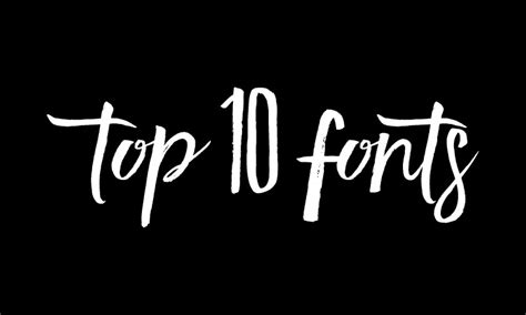 best fonts top 10 fonts of 2015