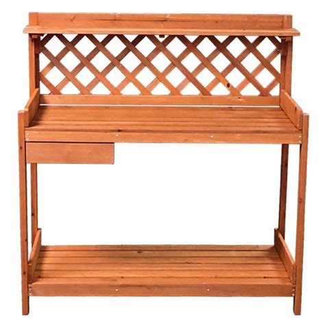 potters benches best choice products 174 potting bench outdoor garden work