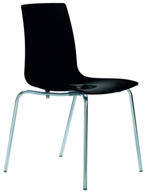 lollipop modern black gloss italian dining chair