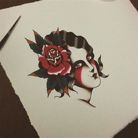tattoo flash gypsy head 1000 images about tattoo on pinterest