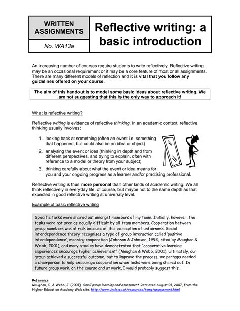 What Is A Reflective Essay by Personal Reflective Journal Essay