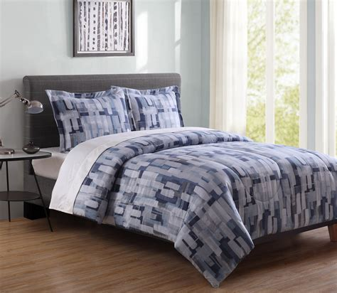 essential home comforter set essential home paint stripes microfiber comforter set