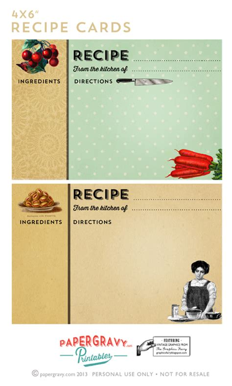 free recipe card template hines