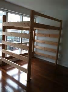Loft Bed Frame Queen Loft Frame Bed Queen Size Loft Beds Pinterest