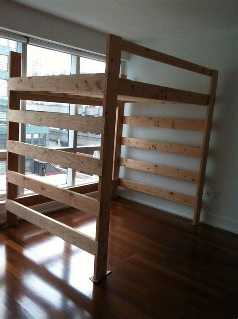 loft bed frame queen loft frame bed queen size loft beds pinterest
