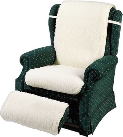 Recliner Pad by Wool Fleece Recliner Cover With Available Footrest Cover