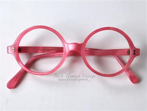 Pink And Black Glasses pink rounds retro focus eyewear