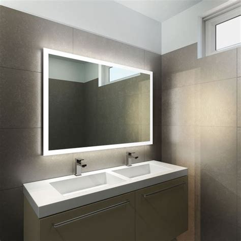 Wide Bathroom Mirror Halo Wide Led Light Bathroom Mirror Light Mirrors