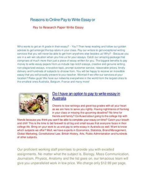 Get Paid To Write Essays by Pay To Write Essay Save Time Get Essay