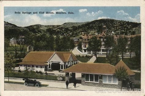 cliff house colorado springs soda springs and cliff house manitou co postcard
