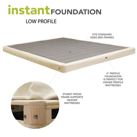 Bunk Bed Foundation Classic Brands 4 Quot Low Profile Instant Foundation For Bed Mattress Reviews Wayfair