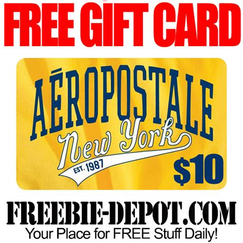 Free Clothing Gift Cards - free 10 aeropostale gift card exp 8 6 15