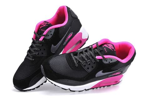 Nike Airmax Flower nike womens air max 90 in black pink and white