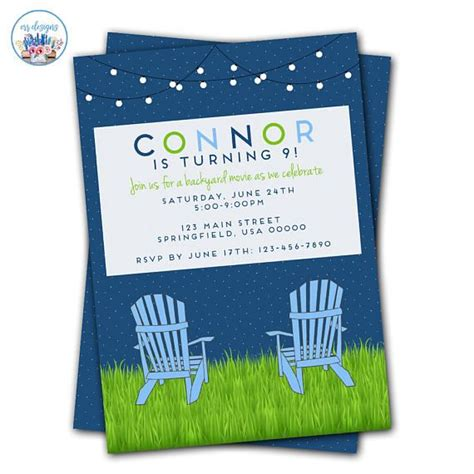 backyard movie night invitations 25 best ideas about movie night invitations on pinterest