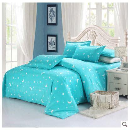 purple turquoise comforter set skin friendly cotton star moon tranquil purple turquoise