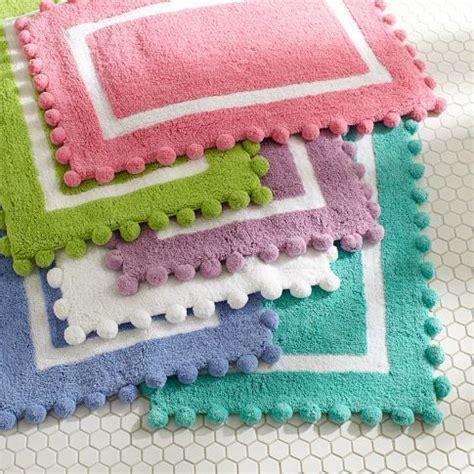 cute bathroom rugs pom pom bath mat pbteen things to show macy and