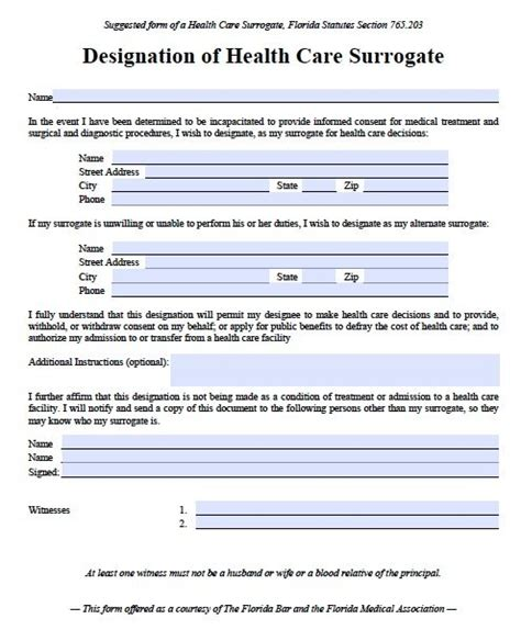 power of attorney template florida free power of attorney florida form pdf template