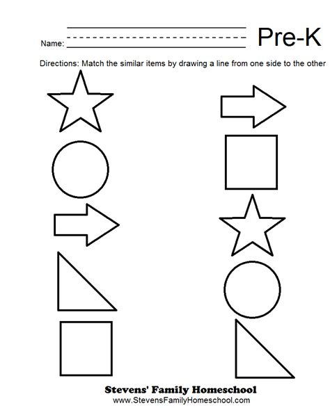 Homeschooling Worksheets For Kindergarten by Pre K Matching Worksheets Math