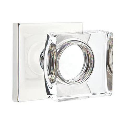 modern glass door knobs modern glass door knobs emtek square door knob glass