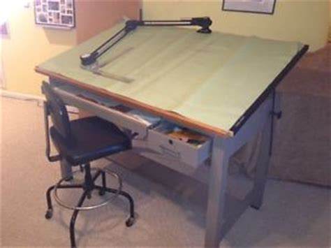 Used Mayline Oak Drafting Table Vemco 4100 24 Machine Vemco Drafting Table