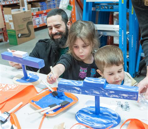 home depot hosts on menorah building the santa