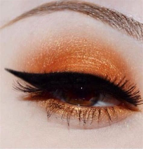 beautiful bronzed orange eyeshadow complementary colors for redhead