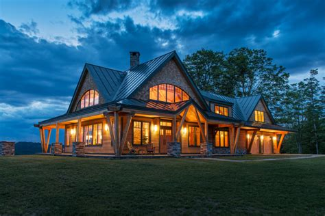 vermont home design ideas timber frame vermont farm house rustic exterior boston by bonin architects associates