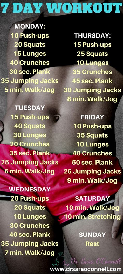 17 best ideas about 7 day workout on 7 day