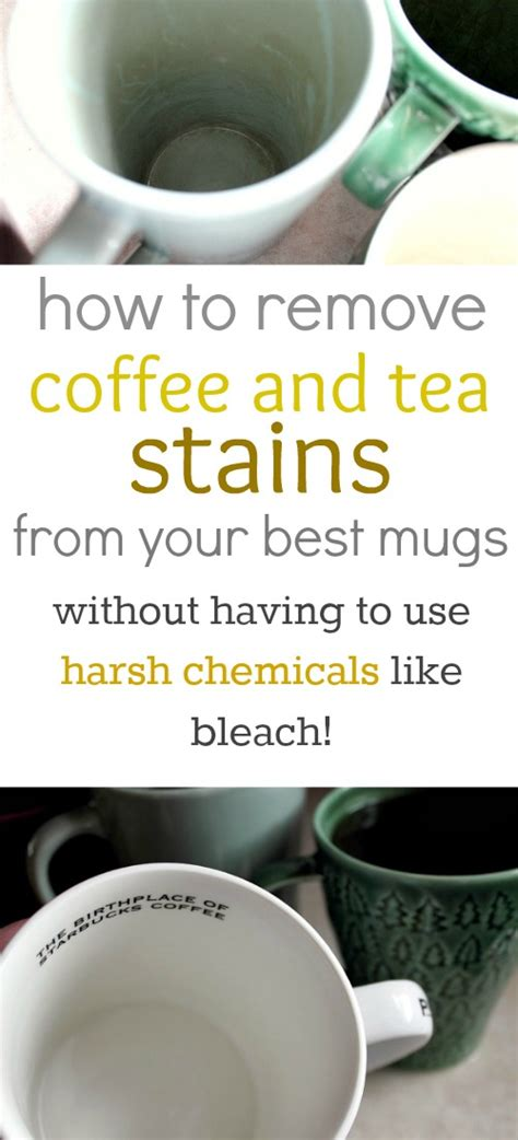 how to remove coffee and tea stains from mugs naturally the creek line house