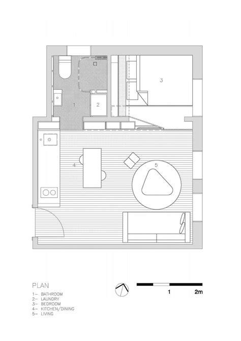 27 sq meters to the studio of 27 square meters